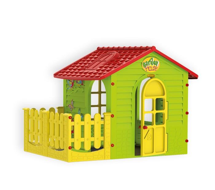 Mochtoys Игровой домик с забором 10839Игровой домик с забором 10839Mochtoys Домик для игр с забором 10839  Игровой домик Mochtoys, сделанный из высококачественная прочного пластика — это прекрасный выбор для любого ребенка. Пластиковый домик имеет окна и двери ярких тонов, и яркий забор которые не выцветают. Размеры домика достаточны, чтобы вместить несколько детей одновременно, что обеспечивает невероятные возможности для совместных игр малышей на свежем воздухе. Кроме того, домик для детей был сконструирована так, чтобы исключить острые края, поэтому он абсолютно безопасен для наших детей<br>