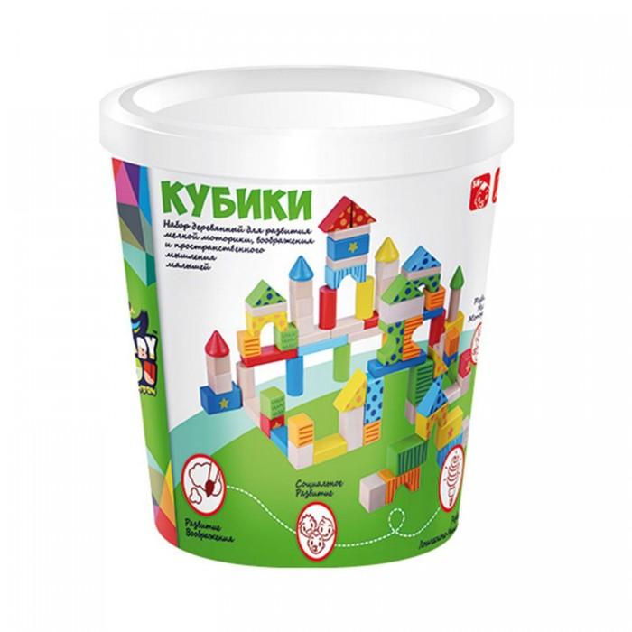 Деревянные игрушки Bondibon Игровой набор строительные Кубики 80 деталей