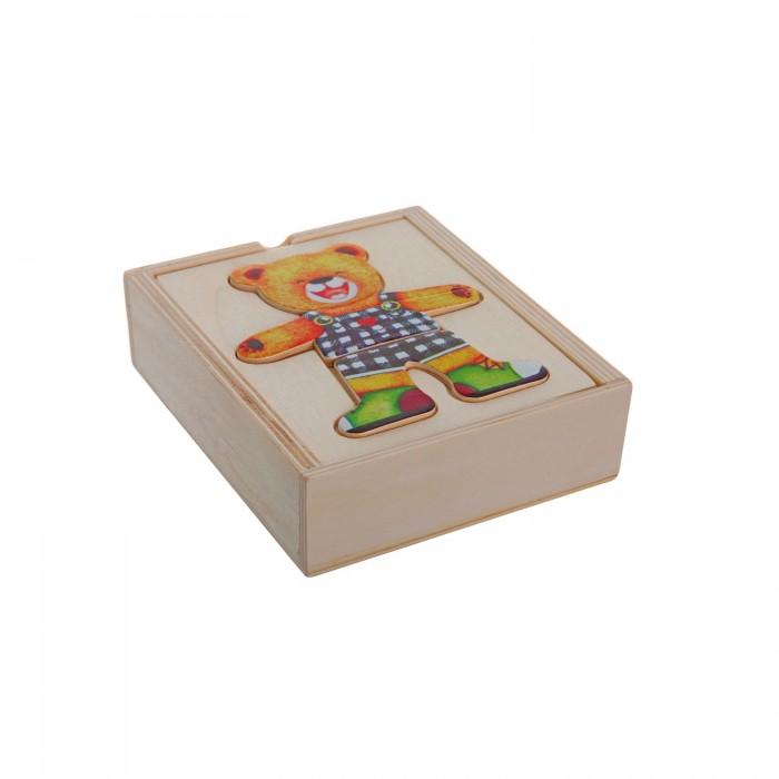 Деревянные игрушки Bondibon Игровой набор Рамка-вкладыш Одень Мишку деревянные игрушки bondibon игровой набор пазлы морские обитатели