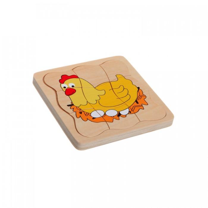 Деревянные игрушки, Деревянная игрушка Bondibon Игровой набор Рамка-вкладыш Рождение птенца  - купить со скидкой