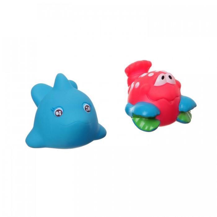 Игрушки для ванны Bondibon Игровой набор для купания дельфин и краб 2 шт. игрушки для ванны tolo toys набор ведерок квадратные