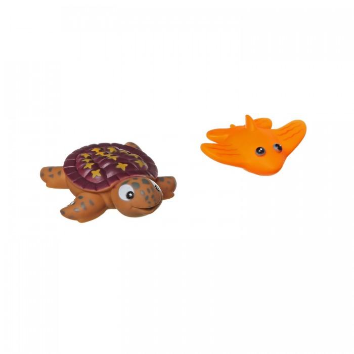 Игрушки для ванны Bondibon Игровой набор для купания черепаха и скат 2 шт. bondibon копилка в технике декопатч сердечко