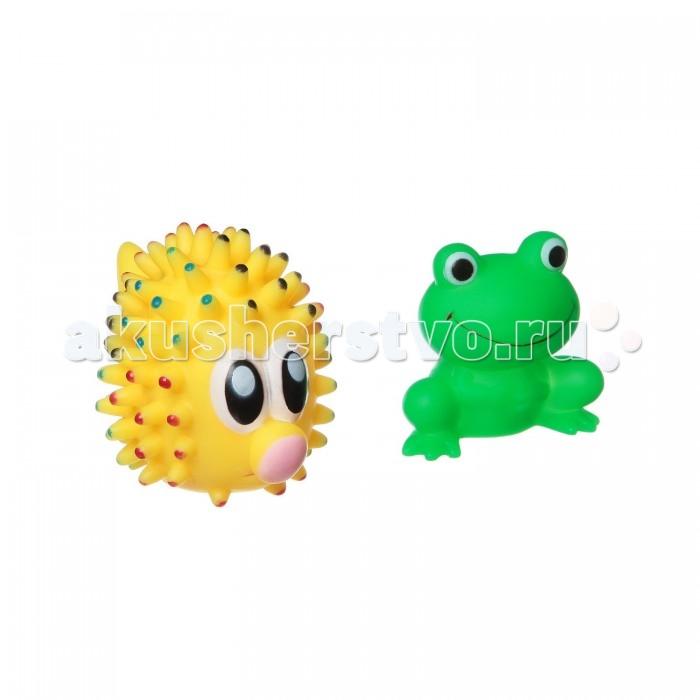 Картинка для Игрушки для ванны Bondibon Игровой набор для купания морской ёж и лягушка 2 шт.