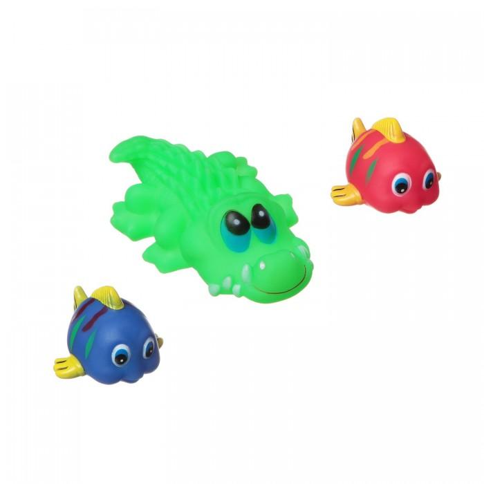 цена на Игрушки для ванны Bondibon Игровой набор для купания 3 шт. ВВ1391