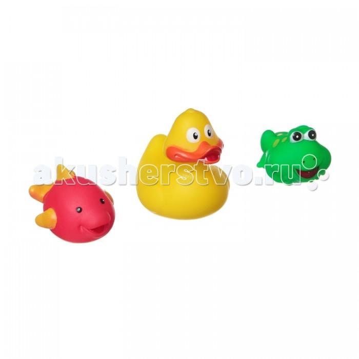 Игрушки для ванны Bondibon Игровой набор для купания 3 шт. ВВ1394 игрушки для ванны tolo toys набор ведерок квадратные