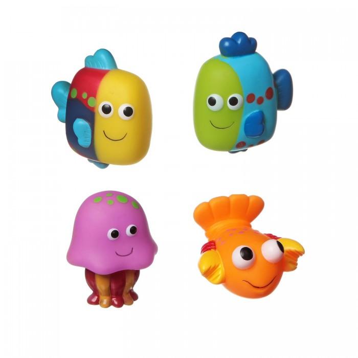 Игрушки для ванны Bondibon Игровой набор для купания 4 шт. ВВ1396 игрушки для ванны tolo toys набор ведерок квадратные