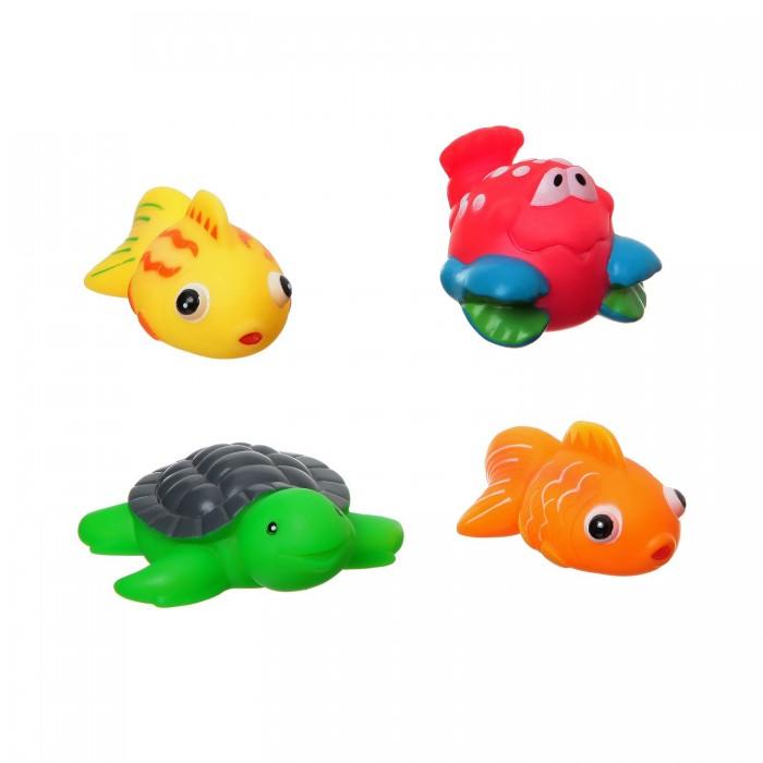 Игрушки для ванны Bondibon Игровой набор для купания 4 шт. ВВ1397 игрушки для ванны tolo toys набор ведерок квадратные