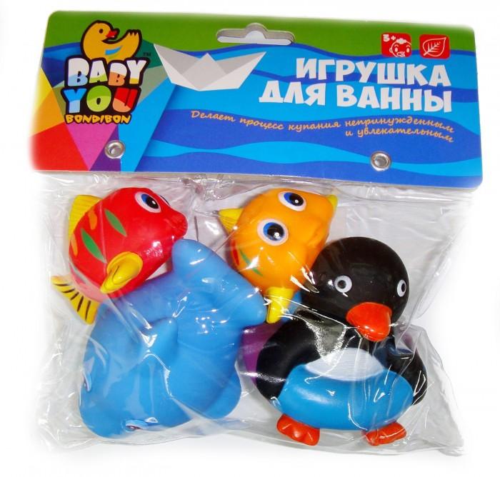 цена на Игрушки для ванны Bondibon Игровой набор для купания 4 шт. ВВ1398