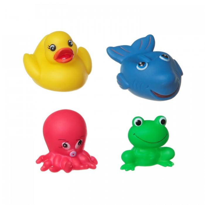 Игрушки для ванны Bondibon Игровой набор для купания 4 шт. ВВ1399 игрушки для ванны tolo toys набор ведерок квадратные