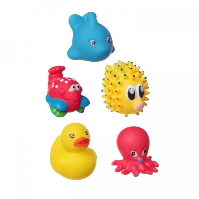 Игрушки для ванны Bondibon Игровой набор для купания 5 шт. ВВ1401 bondibon набор для купания кит рыба осьминог