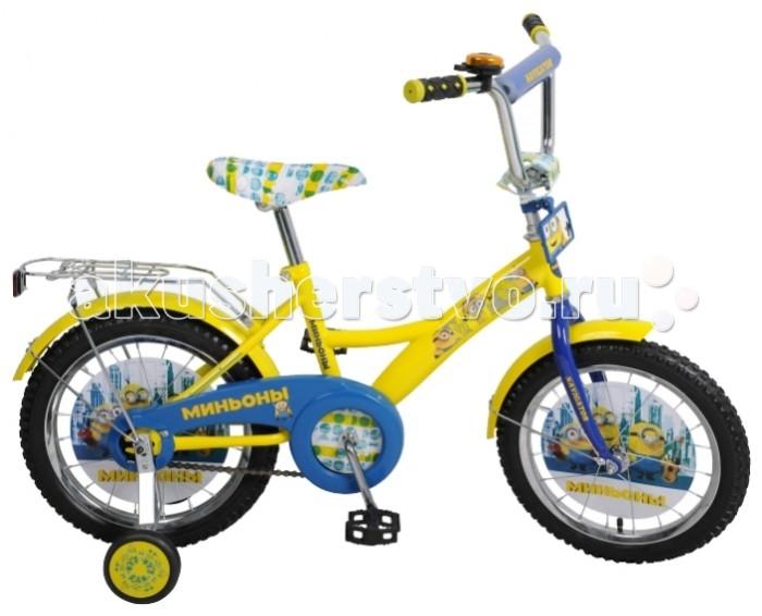 Двухколесные велосипеды Navigator Миньоны 16 Kite велосипед двухколёсный navigator миньоны 18 желтый вн18074