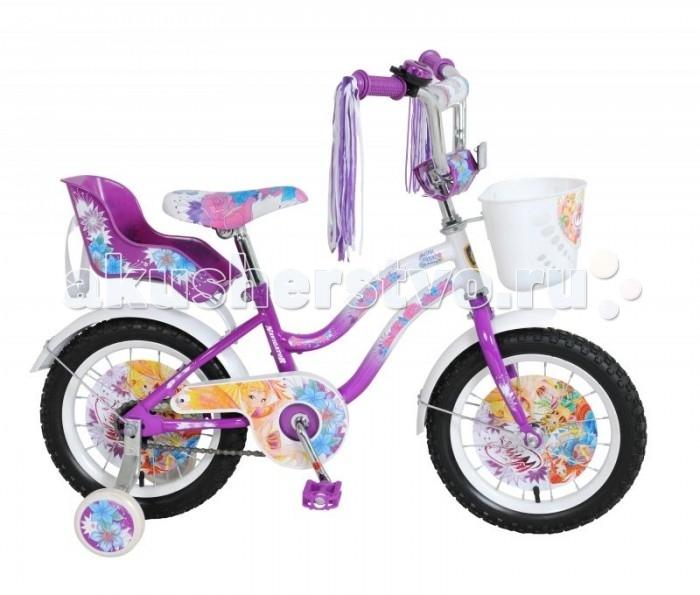 Велосипед двухколесный Navigator Winx 14 T2-типWinx 14 T2-типВелосипед Navigator Winx 14 T2 - это хорошо собранный и надёжный велосипед для ребёнка. Модель подойдет для ребенка ростом 100-120 см. Детский велосипед с ярким дизайном и популярной лицензией Winx.  Велосипед оснащен багажником, звонком, мишурой на руле и корзиной для перевозки необходимых мелочей. Катание на велосипеде благоприятно влияет на здоровье, укрепляет мышцы, развивает зрение, учит ориентироваться в пространстве и принимать решения.   Особенности: Тип: детский Материал рамы: сталь Амортизация: отсутствует Конструкция вилки: жесткая Конструкция рулевой колонки: неинтегрированная, резьбовая Диаметр колес: 14 дюймов Материал обода: алюминиевый сплав Двойной обод: нет Шатун: односоставной Возможность крепления боковых колес: есть Тип переднего тормоза: отсутствует Тип заднего тормоза: ножной Уровень заднего тормоза: начальный Количество скоростей: 1 Уровень каретки: начальный Конструкция каретки: неинтегрированная Тип посадочной части вала каретки: квадрат Количество звезд в кассете: 1 Количество звезд системы: 1 Конструкция педалей: платформы Конструкция руля: изогнутый Настройка положения руля: регулируемый подъем Материал рамки седла: сталь Комфорт: защита цепи, мягкая накладка на руле<br>