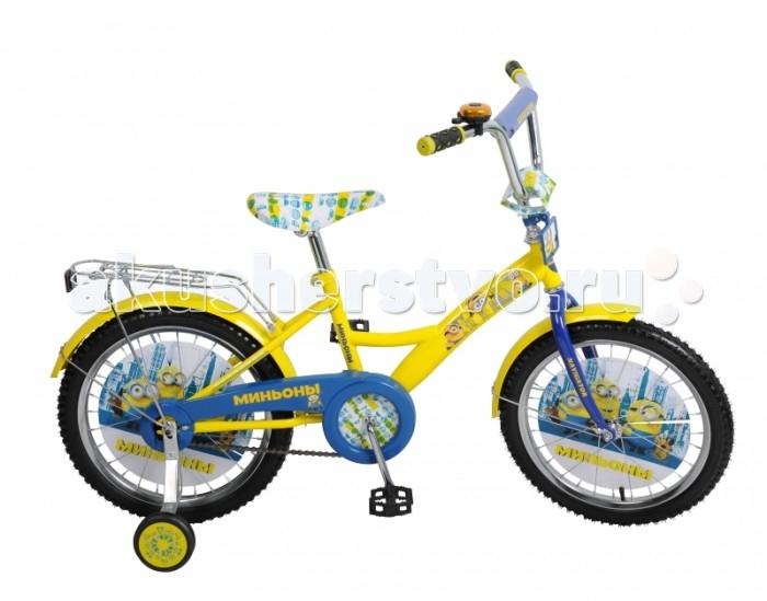 Велосипед двухколесный Navigator Миньоны 18 KiteМиньоны 18 KiteВелосипед Navigator Миньоны 18 Kite - это хорошо собранный и надёжный велосипед для ребёнка. Модель подойдет для ребенка ростом 115-135 см. Детский велосипед с ярким дизайном и популярной лицензией Миньоны.  Велосипед оснащен багажником и звонком. Катание на велосипеде благоприятно влияет на здоровье, укрепляет мышцы, развивает зрение, учит ориентироваться в пространстве и принимать решения.   Особенности: Тип: детский Материал рамы: сталь Амортизация: отсутствует Конструкция вилки: жесткая Конструкция рулевой колонки: неинтегрированная, резьбовая Диаметр колес: 18 дюймов Материал обода: алюминиевый сплав Двойной обод: нет Шатун: односоставной Возможность крепления боковых колес: есть Тип переднего тормоза: отсутствует Тип заднего тормоза: ножной Уровень заднего тормоза: начальный Количество скоростей: 1 Уровень каретки: начальный Конструкция каретки: неинтегрированная Тип посадочной части вала каретки: квадрат Количество звезд в кассете: 1 Количество звезд системы: 1 Конструкция педалей: платформы Конструкция руля: изогнутый Настройка положения руля: регулируемый подъем Материал рамки седла: сталь Комфорт: защита цепи, мягкая накладка на руле<br>