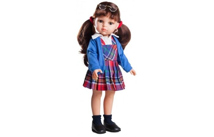 Paola Reina Кукла Кэрол школьница 32 смКукла Кэрол школьница 32 смPaola Reina Кукла Кэрол школьница 32 см   Миловидное личико, шелковистые волосы и яркий наряд – вот то, что ценится в любой кукле. Кэрол наделена всеми этими качествами!   Особенности: У куклы Paola Reina нежный ванильный аромат.  Уникальный и неповторимый дизайн лица и тела. Ручная работа (ресницы, веснушки, щечки, губы, прическа). Волосы легко расчесываются и блестят. Глазки не закрываются. Ручки, ножки и голова поворачиваются.  Качество подтверждено нормами безопасности EN71 ЕЭС.   Материалы: кукла изготовлена из винила глаза выполнены в виде кристалла из прозрачного твердого пластика волосы сделаны из высококачественного нейлона.<br>
