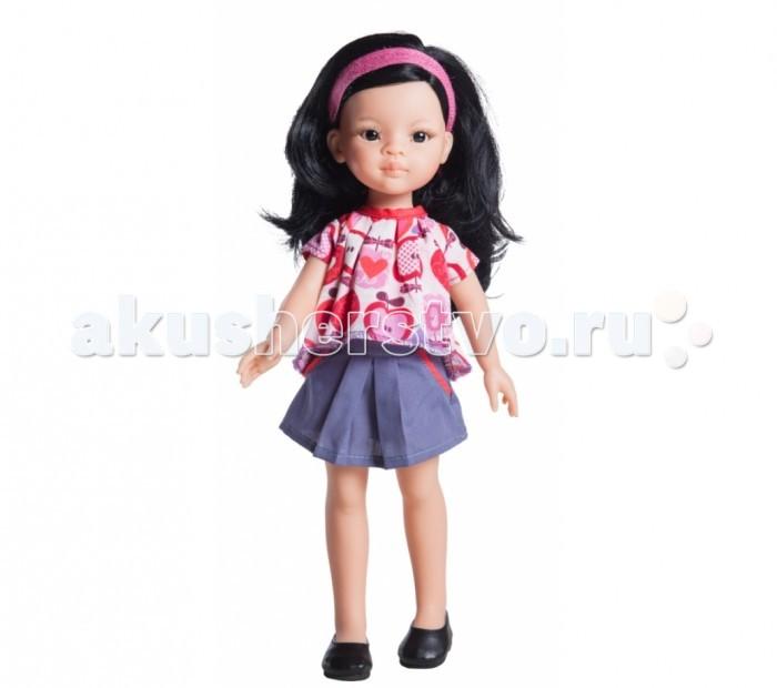 Paola Reina Кукла Лиу 32 смКукла Лиу 32 смPaola Reina Кукла Лиу 32 см - яркая стильная игрушка, которая обязательно понравится каждой девочке и станет ее лучшей подружкой.   Миловидное личико, шелковистые волосы и яркий наряд – вот то, что ценится в любой кукле. Карла наделена всеми этими качествами!   Особенности: У куклы Paola Reina нежный ванильный аромат.  Уникальный и неповторимый дизайн лица и тела. Ручная работа (ресницы, веснушки, щечки, губы, прическа). Волосы легко расчесываются и блестят. Глазки не закрываются. Ручки, ножки и голова поворачиваются.  Качество подтверждено нормами безопасности EN71 ЕЭС.   Материалы: кукла изготовлена из винила глаза выполнены в виде кристалла из прозрачного твердого пластика волосы сделаны из высококачественного нейлона.<br>