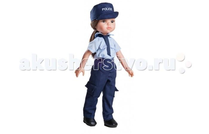 Paola Reina Кукла Кэрол полицейский 32 смКукла Кэрол полицейский 32 смPaola Reina Кукла Кэрол полицейский 32 см - яркая стильная игрушка, которая обязательно понравится каждой девочке и станет ее лучшей подружкой.   Миловидное личико, шелковистые волосы и яркий наряд – вот то, что ценится в любой кукле. Кэрол наделена всеми этими качествами!   Особенности: У куклы Paola Reina нежный ванильный аромат.  Уникальный и неповторимый дизайн лица и тела. Ручная работа (ресницы, веснушки, щечки, губы, прическа). Волосы легко расчесываются и блестят. Глазки не закрываются. Ручки, ножки и голова поворачиваются.  Качество подтверждено нормами безопасности EN71 ЕЭС.   Материалы: кукла изготовлена из винила глаза выполнены в виде кристалла из прозрачного твердого пластика волосы сделаны из высококачественного нейлона.<br>