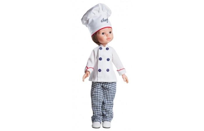 Куклы и одежда для кукол Paola Reina Карлос повар 32 см paola reina кукла вики 47 см paola reina