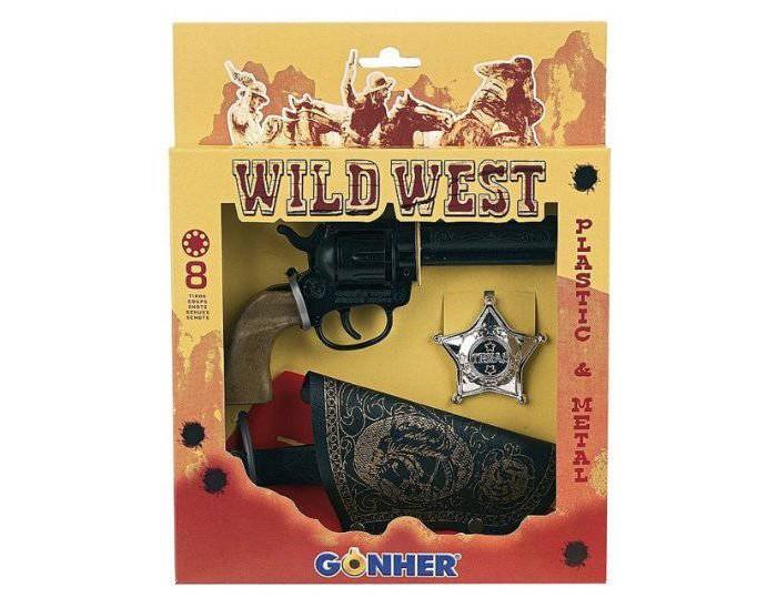 Игрушечное оружие Gonher Набор игрушечного оружия Дикий запад 3 игрушечное оружие gonher игрушка набор ковбой револьвер кобура 150 0