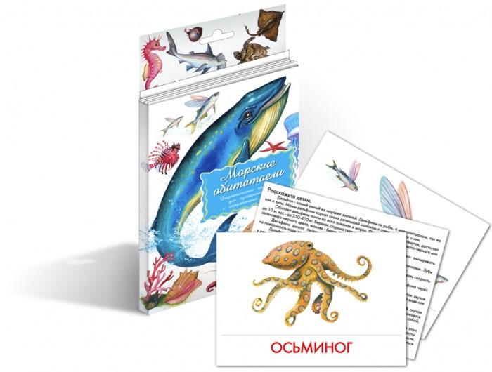 Раннее развитие Маленький гений Дидактические карточки Морские обитатели улыбка обучающие карточки морские обитатели