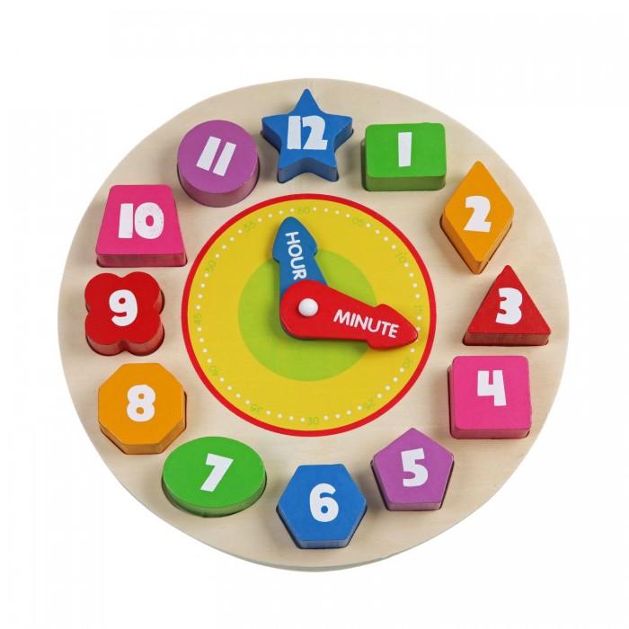 Деревянная игрушка Bondibon Рамка-вкладыш Часы фото