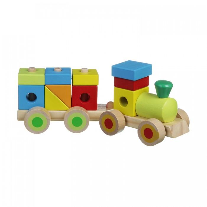 Конструкторы Bondibon Каталка-конструктор Паровоз bondibon bondibon деревянный конструктор чудо поезд