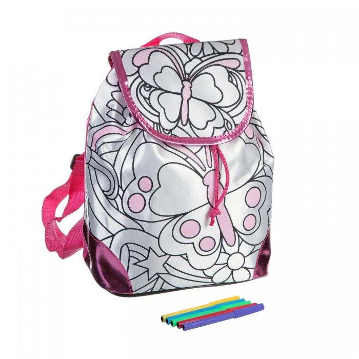 Заготовки под роспись Bondibon Рюкзак для раскрашивания розовый кант заготовки под роспись disney набор для раскрашивания рюкзака холодное сердце