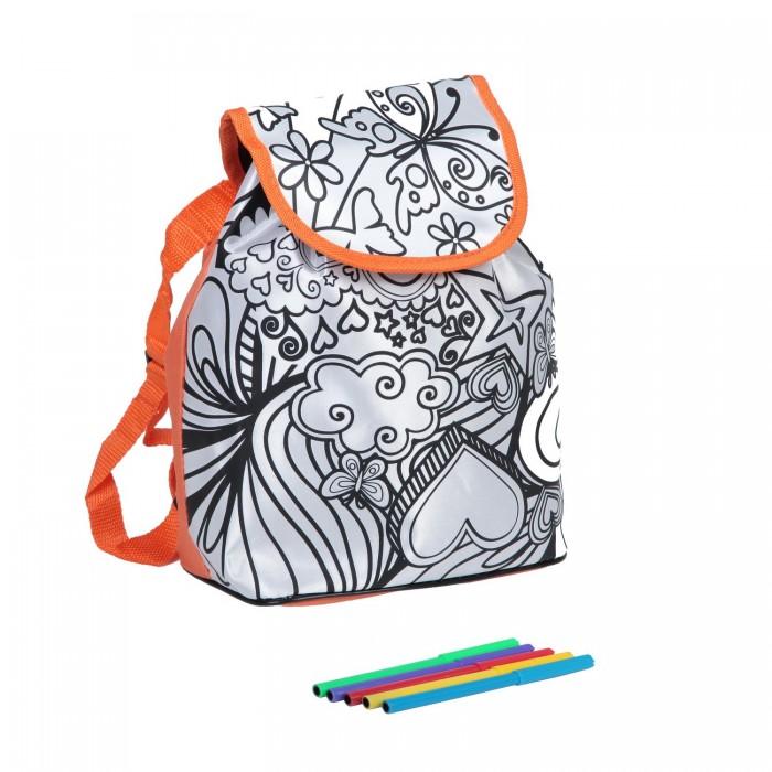 Заготовки под роспись Bondibon Рюкзак для раскрашивания оранжевый кант заготовки под роспись disney набор для раскрашивания рюкзака холодное сердце