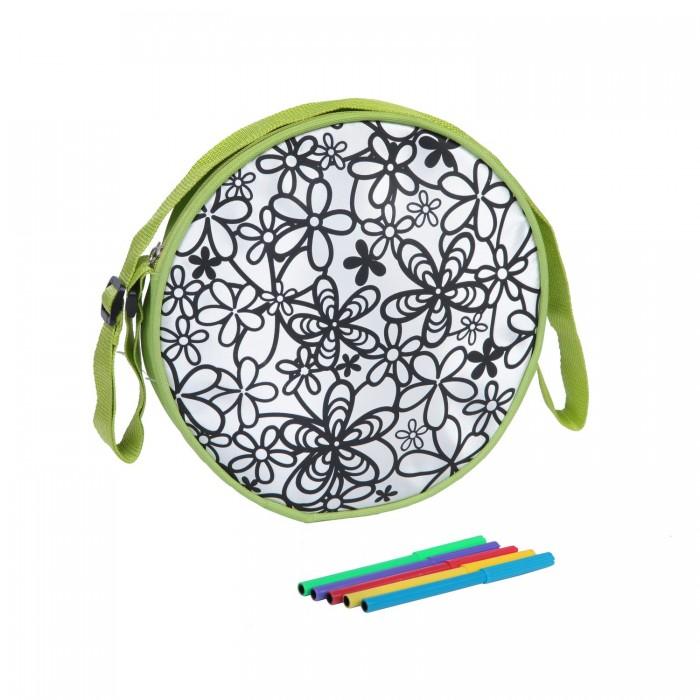 Заготовки под роспись Bondibon Сумка для раскрашивания круглая заготовки под роспись disney набор для раскрашивания рюкзака холодное сердце