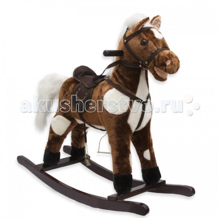 Качалка LAPA House  Лошадь ВестаЛошадь ВестаLAPA House Лошадь-качалка Веста, 78 x 28 x 68 см.  Лошадка-качалка - прекрасное дополнение к обстановке комнаты Вашего малыша. После долгого дня, полного подвижных игр и других забав, любой крохе несомненно доставит удовольствие немного покачаться в седле такого скакуна.   Игрушка оборудована специальными деревянными ручками на шее, за которые можно держаться при раскачивании. При нажатии на ухо, лошадка имитирует ржание, шевелит губами, машет хвостом и издает звук галопа. Внизу расположены два изогнутых полозья с помощью которых можно раскачиваться. Дуги качалки - деревянные.<br>