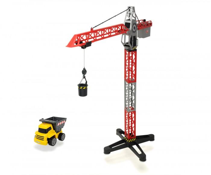 Dickie Кран + самосвалКран + самосвалКран + самосвал Dickie, многофункциональный строительный кран станет отличной игрушкой для мальчишек старше трёх лет. Кран имеет функцию поднятия и опускания стрелы, имеет несколько подвижных частей, а также может разворачиваться на 360 градуссов.  Высота (дхгхш): 67 см  Питание: 2 батарейки АА<br>