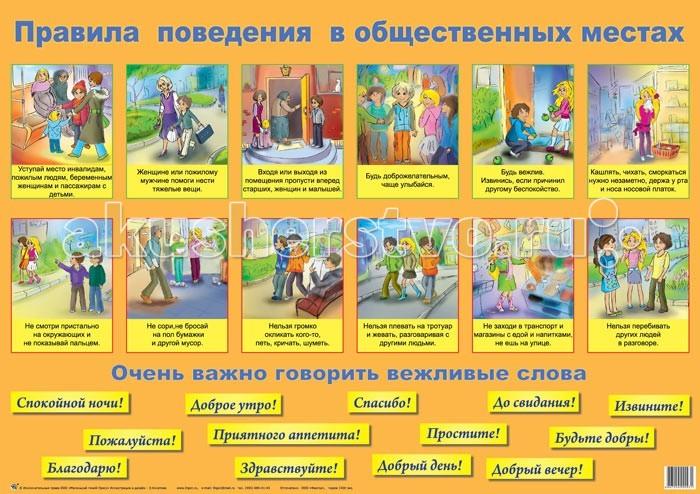 Обучающие плакаты Маленький гений Плакат Правила поведения правила перехода через улицу плакат