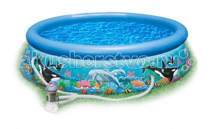 Бассейн Intex Easy Set с рисунком 305х76 см с фильтром