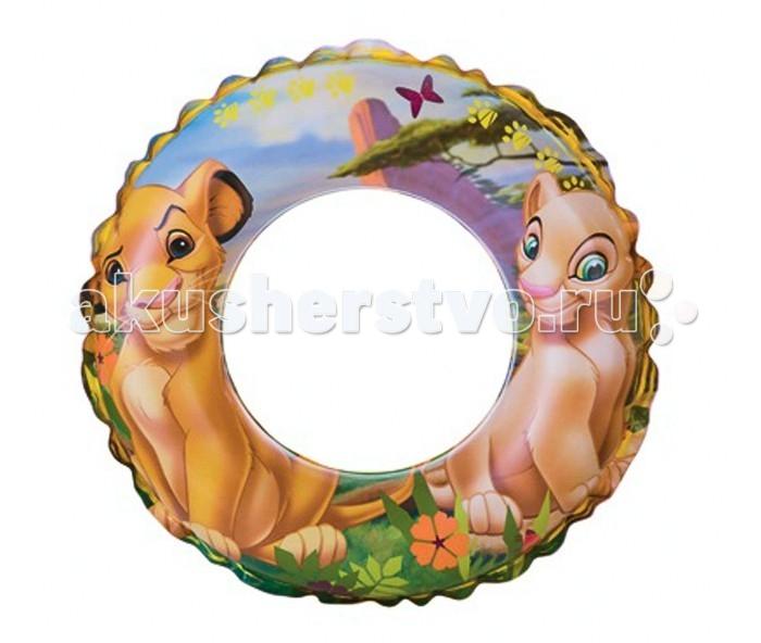 Круги и нарукавники для плавания Intex Надувной круг Король лев 61 см круги и нарукавники для плавания intex круг детский с ручками пират 107 см