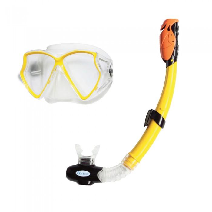 Летние товары , Очки, маски и трубки для плавания Intex Набор для подводного плавания Aviator Pro арт: 136154 -  Очки, маски и трубки для плавания