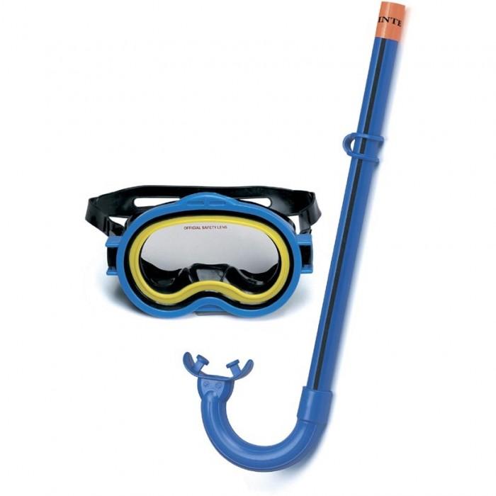 Очки, маски и трубки для плавания Intex Набор для плавания матрасы для плавания intex матрас бар рэги прозрач 188х71 см