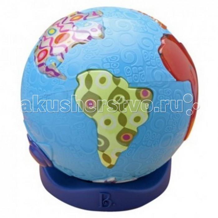 Battat Игрушка Светящийся глобусИгрушка Светящийся глобусИнтерактивная игрушка Battat Светящийся глобус. Нажми на любой континент, и ты услышишь музыку, являющуюся визитной карточкой данного континента.  Особенности: 39 песен с 7 континентов включи режим только огни, и у тебя — великолепный ночник, с которым не страшно засыпать 3 батарейки ААА входят в комплект.<br>