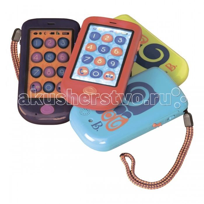 Battat СмартфонСмартфонИнтерактивная игрушка Battat Смартфон веселый гаджет для Вашего малыша, совсем как у родителей! Он лучше, чем настоящий! Теперь мама и папа захотят такой же!  Особенности: сенсорный экран учит запоминать цифры, произнося их при нажатии есть запись и воспроизведение. Родители могут записать сообщения для детей, а они их потом прослушать через 8 секунд молчания телефон перезванивает вам четыре песни, как в настоящем телефоне 3 батарейки ААА входят в комплект цвета в ассортименте.<br>