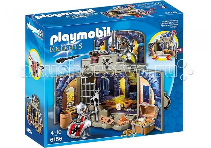 Конструктор Playmobil Возьми с собой: Сокровищница рыцарейВозьми с собой: Сокровищница рыцарейКонструктор Playmobil Возьми с собой: Сокровищница рыцарей - большой конструктор для маленьких любителей благородного рыцарства.  Мальчишки обожают читать о подвигах великих воинов, воссоздавать битвы прошлого, любят турниры и состязания. Может быть, поэтому их так привлекает эпоха Средневековья? Вручите своему ребенку комплексный набор Playmobil «Сокровищница рыцарей» для того, чтобы разнообразить его любимые игры! В этом конструкторе собрано все для увлекательного времяпрепровождения – 22 детали из качественного пластика, продуманный сюжет, функциональность каждого элемента.  Набор можно дополнить другими конструкторами Playmobil: «ДУО: Рыцари» 5166pm, «Друзья: Железный рыцарь» 6821pm, «Экстра-набор: Рыцарь с Драконом» 4793pm.  В набор входят:  1 замок 2 фигурки рыцарей.   Дополнительные аксессуары: 2 щита, 3 меча, 1 боевой топор, 1 кинжал, 1 пушка (функция метания), 2 снаряда, 1 сундук и золотые монеты, 1 костер, 1 ведро, 1 бочка,1 решётка, 1 деревянные кандалы с цепью, череп и мышка.   Описание замка: каркас здания (собирается в удобную шкатулку и запирается ключом), тематический принт.  Описание фигурок:  2 рыцаря, мужчины. Съёмные шлемы. У фигурок подвижные ноги (что помогает легко размещать их стоя и сидя) и вращающаяся голова, руки хорошо фиксируют аксессуары за счет специальных пазов, дизайн одежды соответствуют тематике набора.  Серия «Возьми с собой» - развивающие конструкторы из Германии для детей от 3 до 7 лет!   Эти наборы специально разработаны для того, чтобы ребенок мог взять их в дорогу, загород, в отпуск или в гости, не потеряв ни одной детали. Для конструктора придумана упаковка, которая является его неотъемлемой частью – это может быть дом, замок, магазинчик, платформа для спортивных игр или территория целого заповедника. Упаковка имеет форму чемодана или складной коробки, в которой надежно храниться конструктор. Ваш ребенок будет увлечен и восхищен раз
