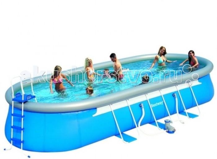 Бассейн Bestway FastSet 610х366х122 смFastSet 610х366х122 смКомпания BestWay, один из мировых лидеров в производстве сборных и надувных бассейнов, представляет линейку надувных бассейнов FastSet. Овальные бассейны Fast Set, позволяют оптимально организовать пространство на участке в случаях, когда установка круглого бассейна невозможна или неудобна.  Преимуществом надувных бассейнов BestWay является: легкая установка, трехслойный материал, сливной клапан, позволяющий аккуратно слить бассейн. К каждому бассейну прилагается DVD диск с инструкцией по установке бассейна.   Вне зависимости от конкретной модели бассейна, выбор надувного бассейна BestWay FastSet – станет отличным решением, ведь эти качественные бассейны доставят Вам и Вашим близким огромное удовольствие и порадуют долгим сроком службы.  В комплект бассейна входит: Насос-фильтр 220В для рециркуляции воды картриджный Подстилка для бассейна Покрывало для бассейна Лестница для бассейна Руководство по эксплуатации DVD-диск с инструкциями по установке  Размеры: 610х366х122 см. Объем бассейна: 19347 л. Производительность насоса: 3028 л/ч<br>