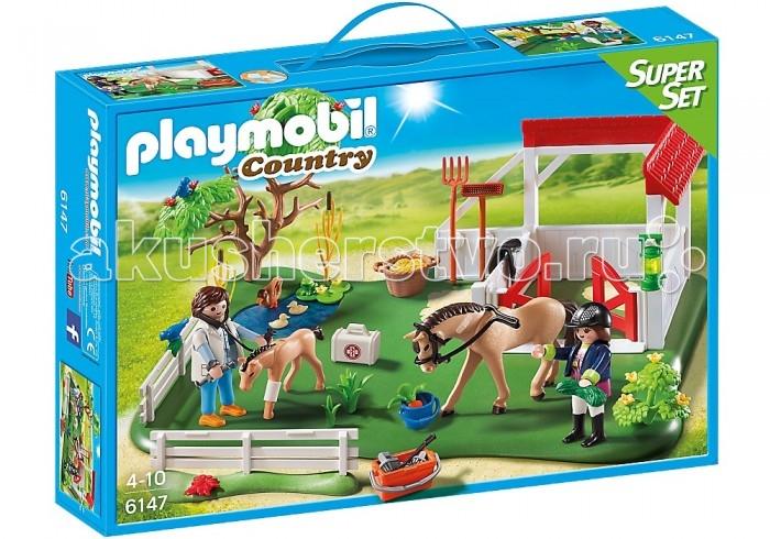 Конструкторы Playmobil Супер набор: Загон для лошадей железо для лошадей украина
