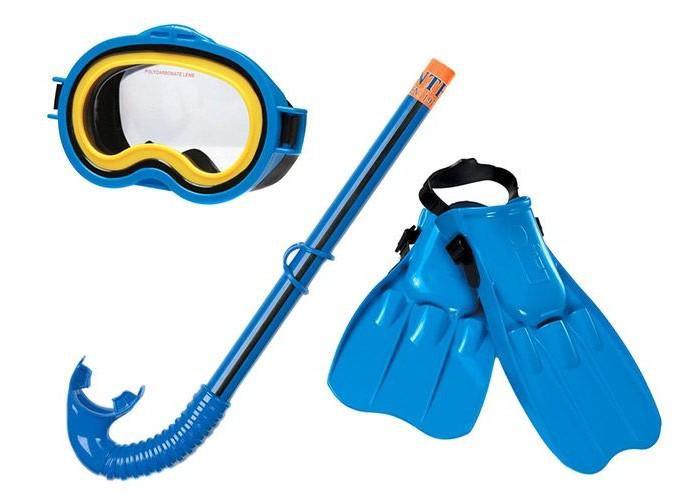 Очки, маски и трубки для плавания Intex Набор для плавания с 8 лет матрасы для плавания intex матрас бар рэги прозрач 188х71 см