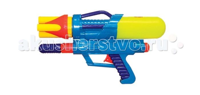 Игрушечное оружие Тилибом Водный пистолет с помпой водный пистолет тилибом с 2 отверстиями 30 см
