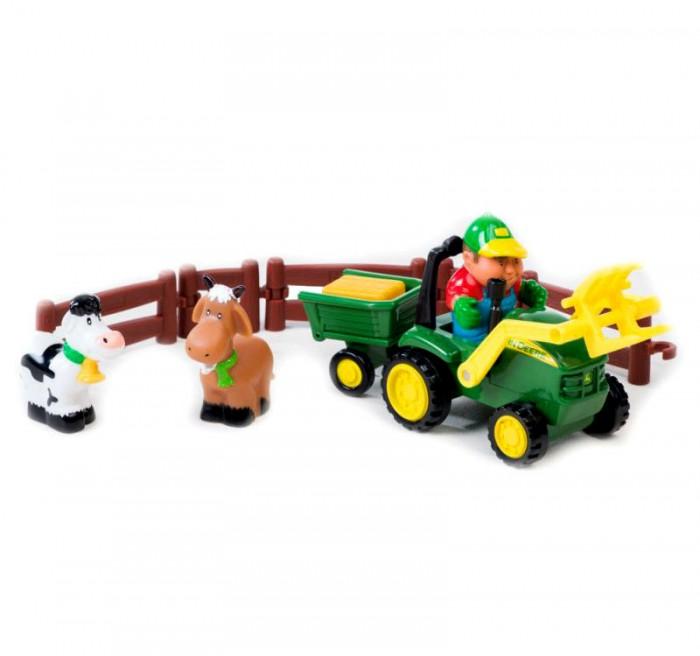 Игровые наборы Tomy John Deere Моя Первая Ферма Погрузка урожая машины tomy трактор john deere monster treads с большими резиновыми колесами