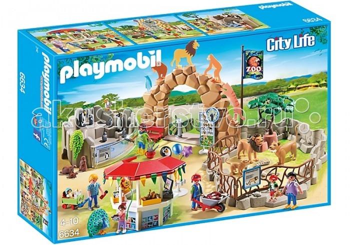 Конструктор Playmobil Зоопарк: Мой большой зоопаркЗоопарк: Мой большой зоопаркКонструктор Playmobil Зоопарк: Мой большой зоопарк  Все дети любят ходить в зоопарк, ведь здесь можно увидеть диких животных, понаблюдать за ними. А еще в зоопарке можно купить шарики и понаблюдать за тем, как работник кормит животных. У каждого свой рацион. Вот семья львов в вольере ждет, когда им принесут мяса, а пингвины в бассейне уже дождались рыбы. Посетители с интересом наблюдают за этим процессом. В киоске можно купить сувениры и брошюры.  В комплекте фигурки 4 фигурки взрослых, два ребенка и один младенец, фигурки животных, аксессуары.<br>