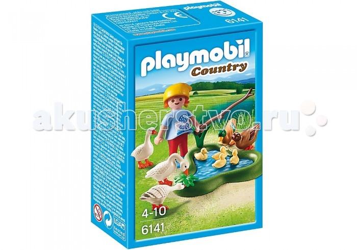 Playmobil Ферма: Утки и гуси на пруду playmobil ферма золотые ретриверы с щенками