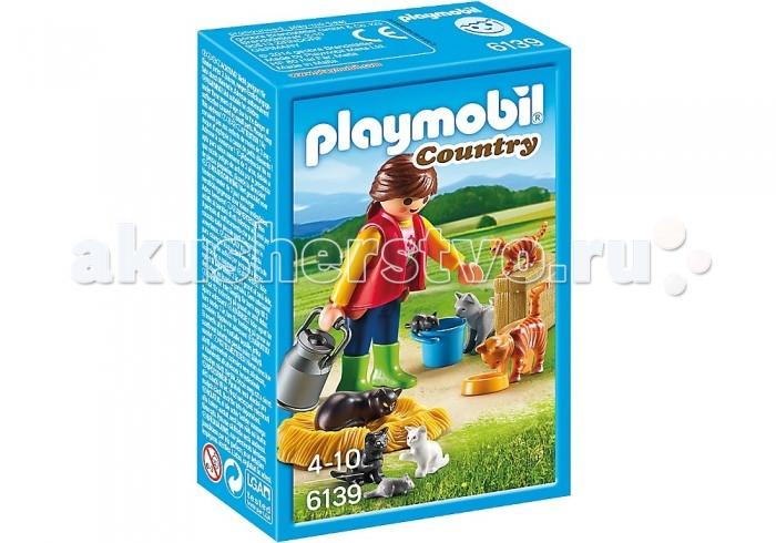 Конструкторы Playmobil Ферма: Женщина с семейством кошек конструкторы playmobil лодка с браконьерами