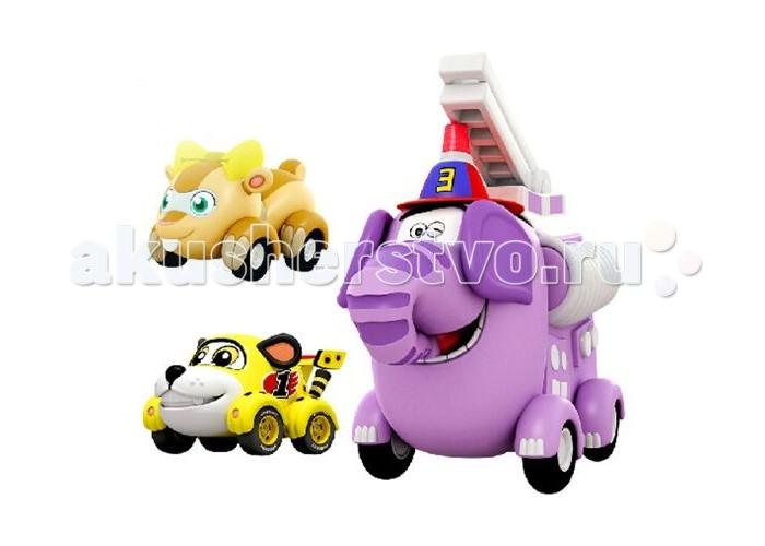 Машины Vroomiz Набор инерционных машинок Спиди, Софи и Слон пожарный игровой набор инерционных машинок врумиз спиди софи слон пожарный