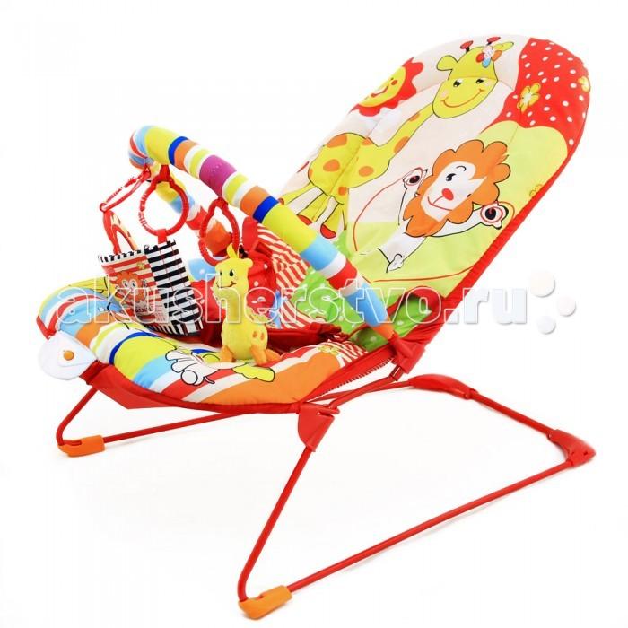 Ути Пути Шезлонг детский ЗоопаркШезлонг детский ЗоопаркУти Пути Шезлонг детский Зоопарк, 50 х 64 х 50 см, 1 дуга, 4 игрушки, вибро, музыка.  Детский развивающий шезлонг с игрушками-подвесками Зоопарк - шезлонг с нерегулируемым наклоном сидения. Два совместных режима работы: музыка и вибро, громкость регулируется. Работает от 2-х батареек АА. Для детей до 9 кг.  В комплекте:  дуга съемная, на нее крепятся три подвесные игрушки  трехточечные ремни безопасности.<br>
