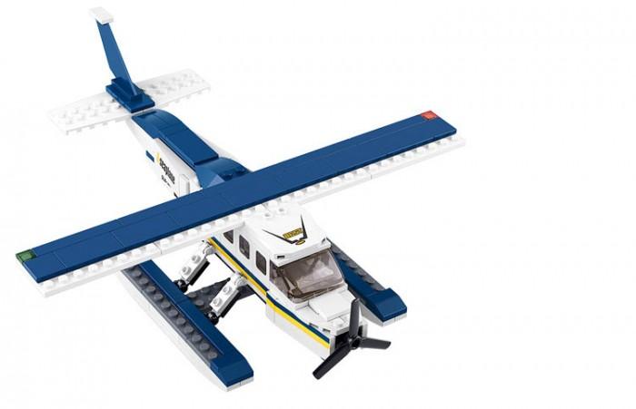 Конструкторы Sluban Aviation Самолет на водных лыжах M38-B0361 BOX (214 элементов) цена 2017