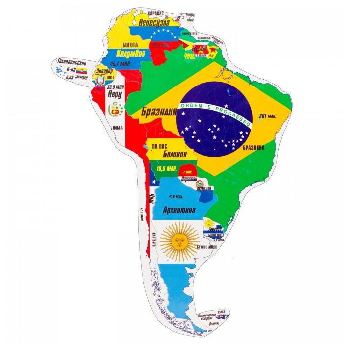 Атласы и карты Геомагнит Магнитный пазл Южная Америка 16 элементов раннее развитие геомагнит магнитный пазл европа 44 элемента